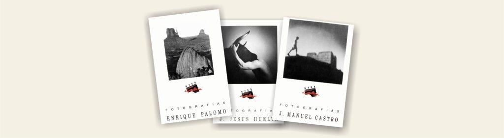 Tarjetas de las tres primeras exposiciones